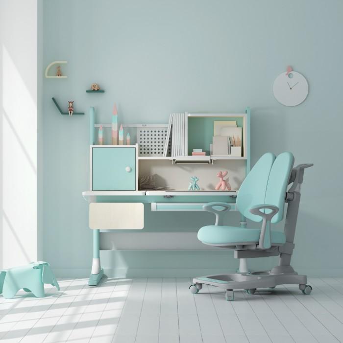 黑白调学习椅、儿童书桌,高审美的实用经典主义学习用具
